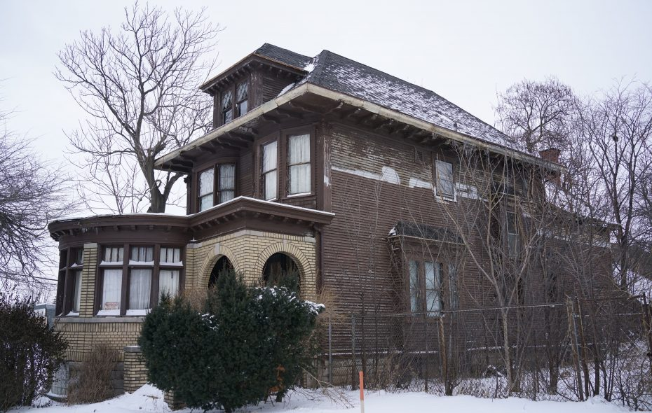 Shah Ali purchased this Fillmore Avenue home at auction and is fixing substantial water damage. (Derek Gee/Buffalo News)