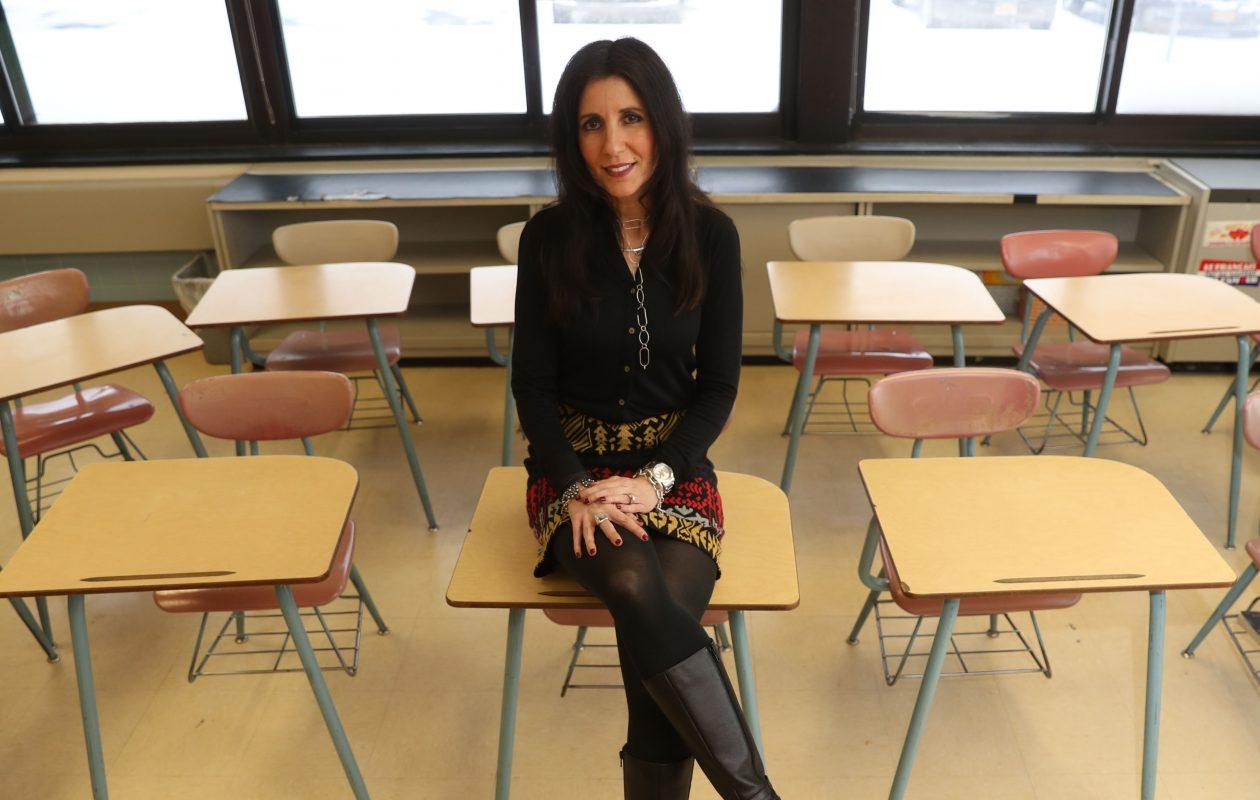 Fashion Friday visited Andrea Converso, who teaches French and Spanish at North Tonawanda Middle School. (Sharon Cantillon/Buffalo News)