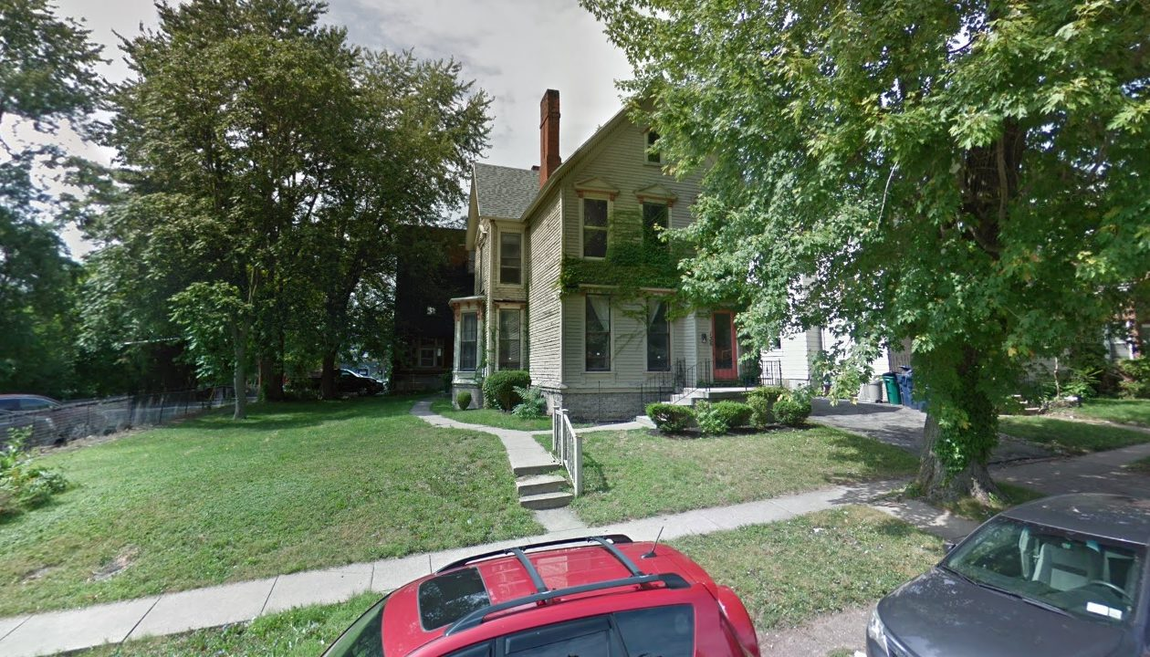 The two-building apartment property at 136 N. Pearl St. was acquired. (Google)