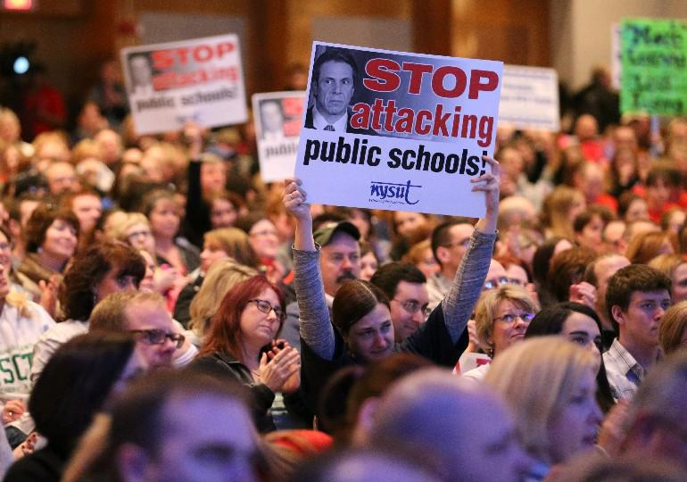 Teachers unions have opposed linking student tests to teacher evaluations, but Gov. Cuomo should hold fast to his goal and insist on a fair statewide system of evaluations that factors in student performance. (Sharon Cantillon/News file photo)