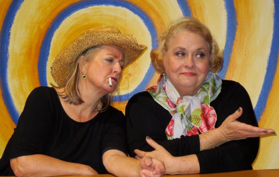 "Pamela Rose Mangus, left, and Mary Kate O'Connell star in O'Connell and Company's production of ""The Kathy & Mo Show: Parallel Lives."""