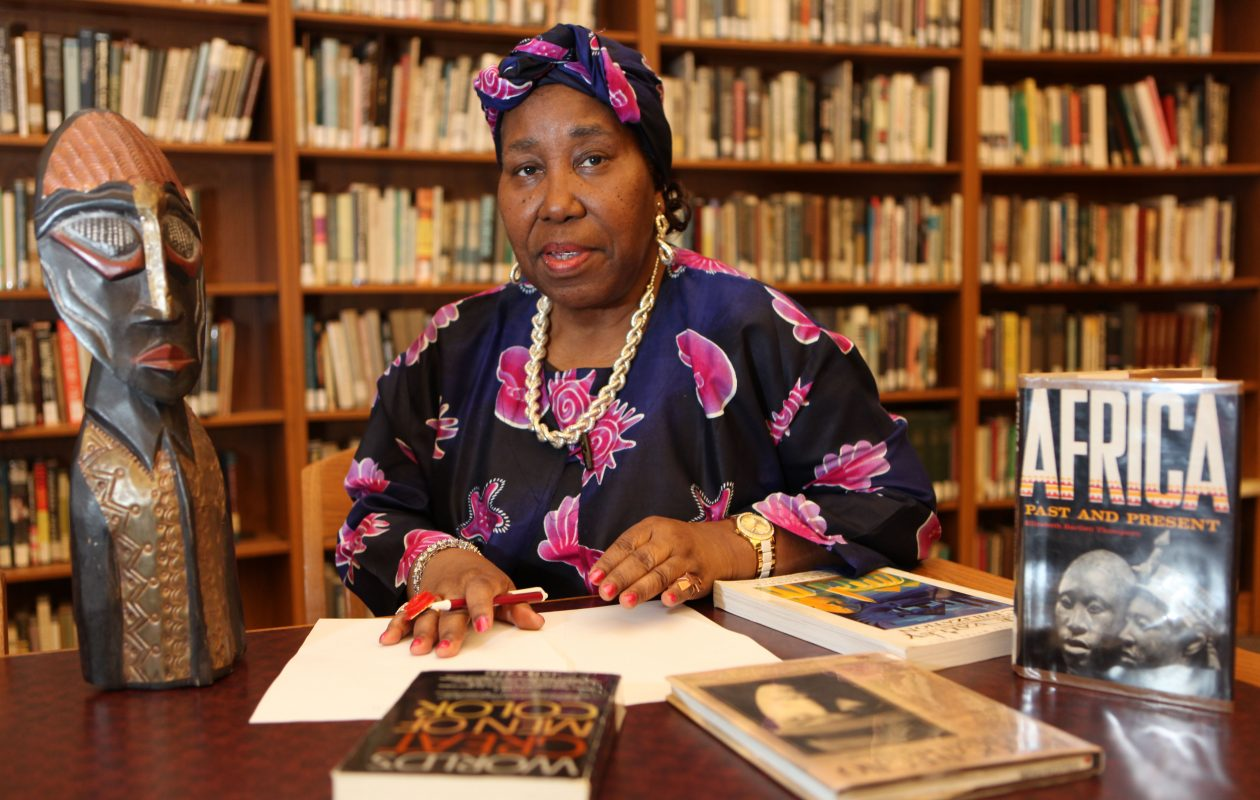 Local historian Eva Doyle does some research on African-American history at the Merriweather Library in this 2012 file photo. (Buffalo News file photo)