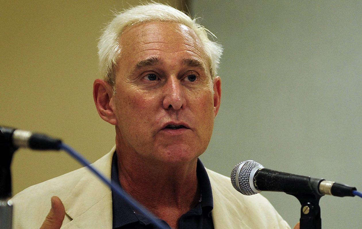 Roger Stone speaks in Buffalo in 2016. (News file photo)