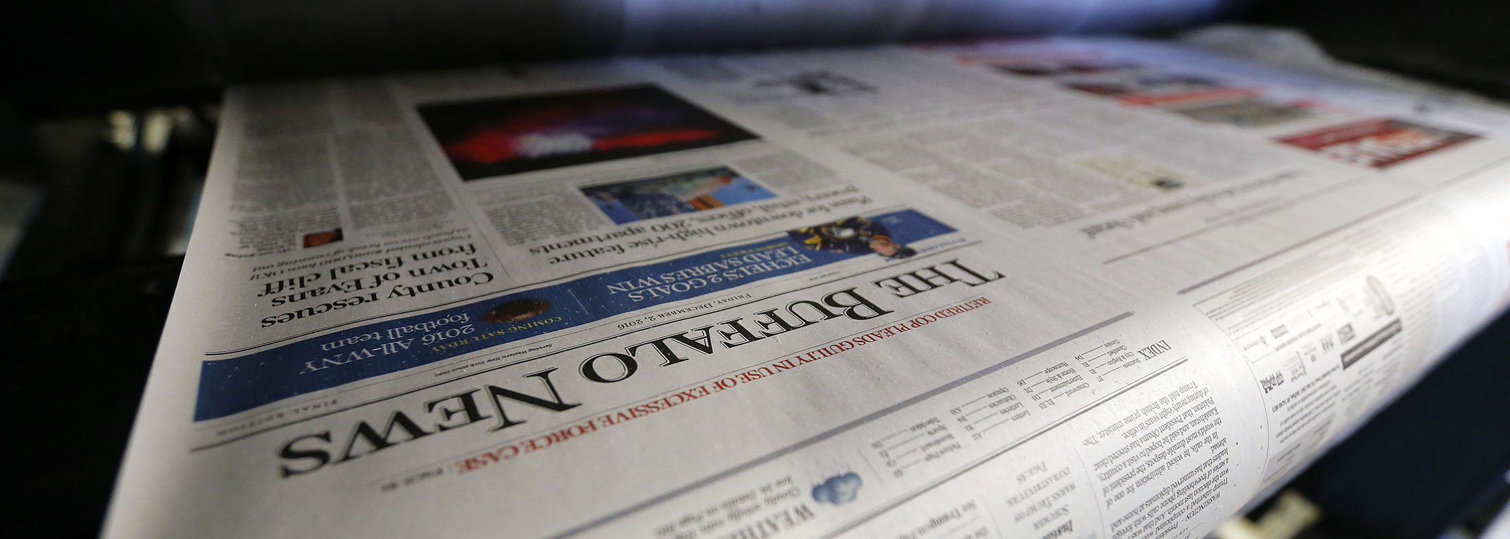 Presses roll out an edition of The Buffalo News. (Mark Mulville/Buffalo News)