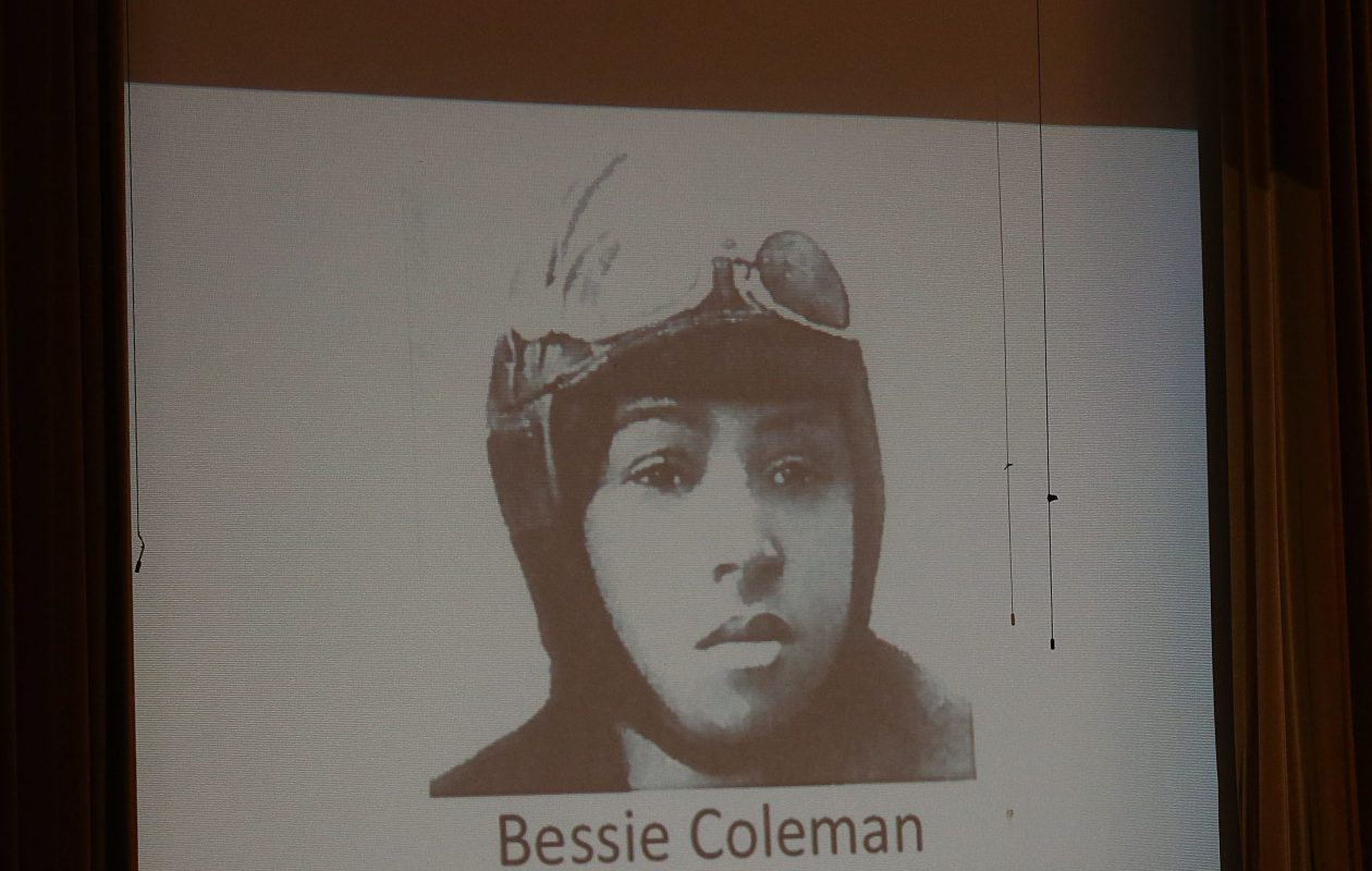 February is usually given to celebrating black history, as with this East High School display of pilot Bessie Coleman, who get her license in 1921. But if we are serious about pursuing equality, it's time to learn the history of how whites achieved their socioeconomic advantages. (Sharon Cantillon/News file photo)