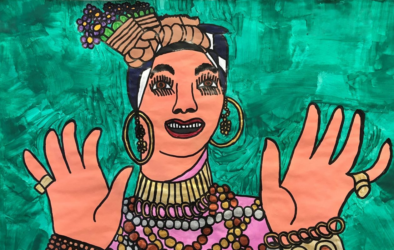 Chaz Buscagalia has created a buzz in the regional arts community with his portraits, including this one, called 'Carmen.' (Photo courtesy of Autism Services Inc. Arts Programs)
