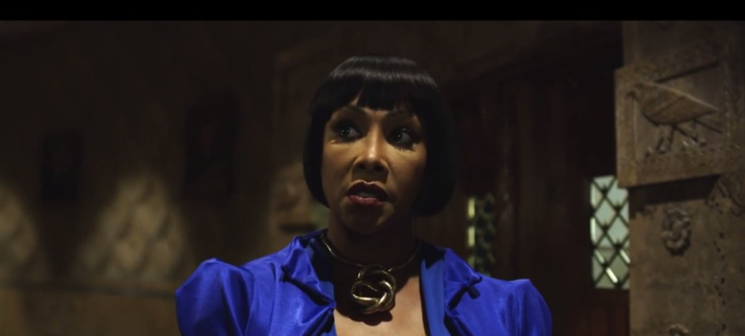 This screenshot from the new 'Crossbreed' trailer shows Vivica A. Fox in a scene shot in Buffalo City Hall.