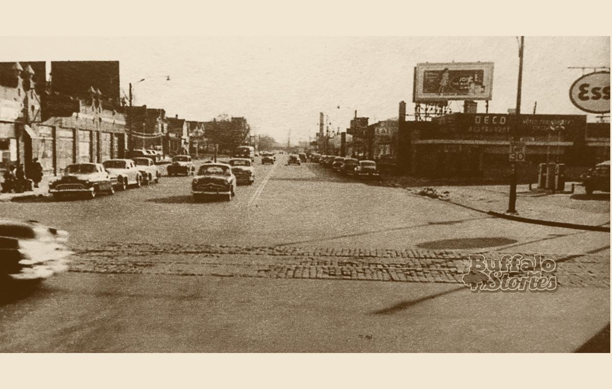 Delaware Avenue, looking south from Hertel Avenue in 1950.