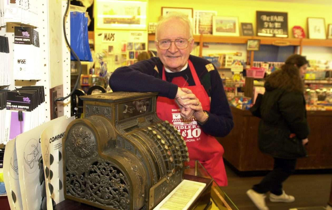 Ed Vidler is seen in his store in 2000. (Buffalo News file photo)