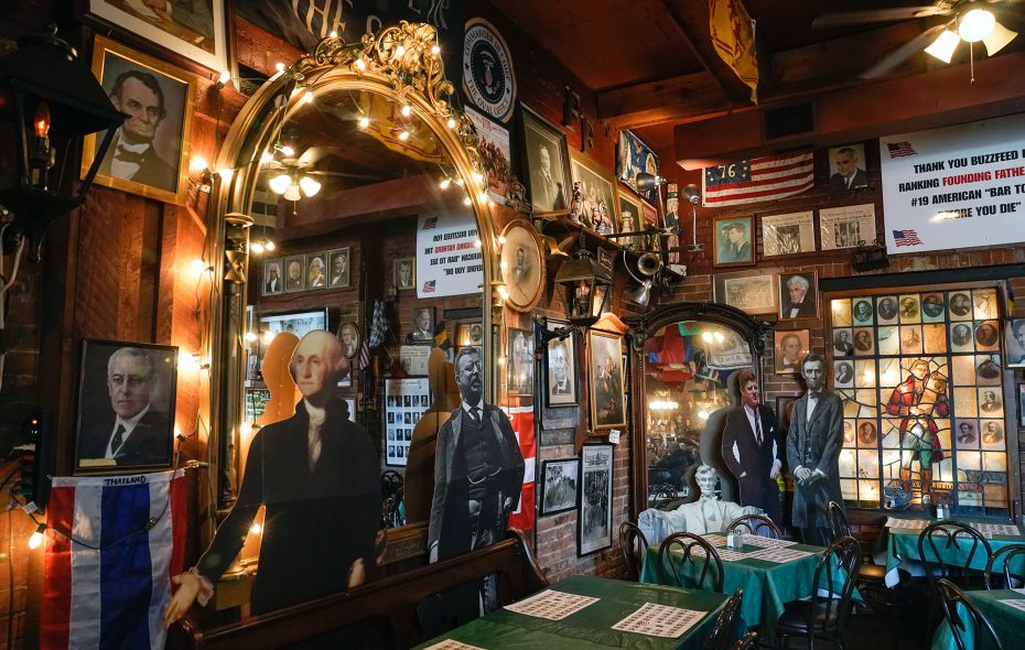Show off your presidential knowledge at Founding Fathers Pub. (Dave Jarosz)