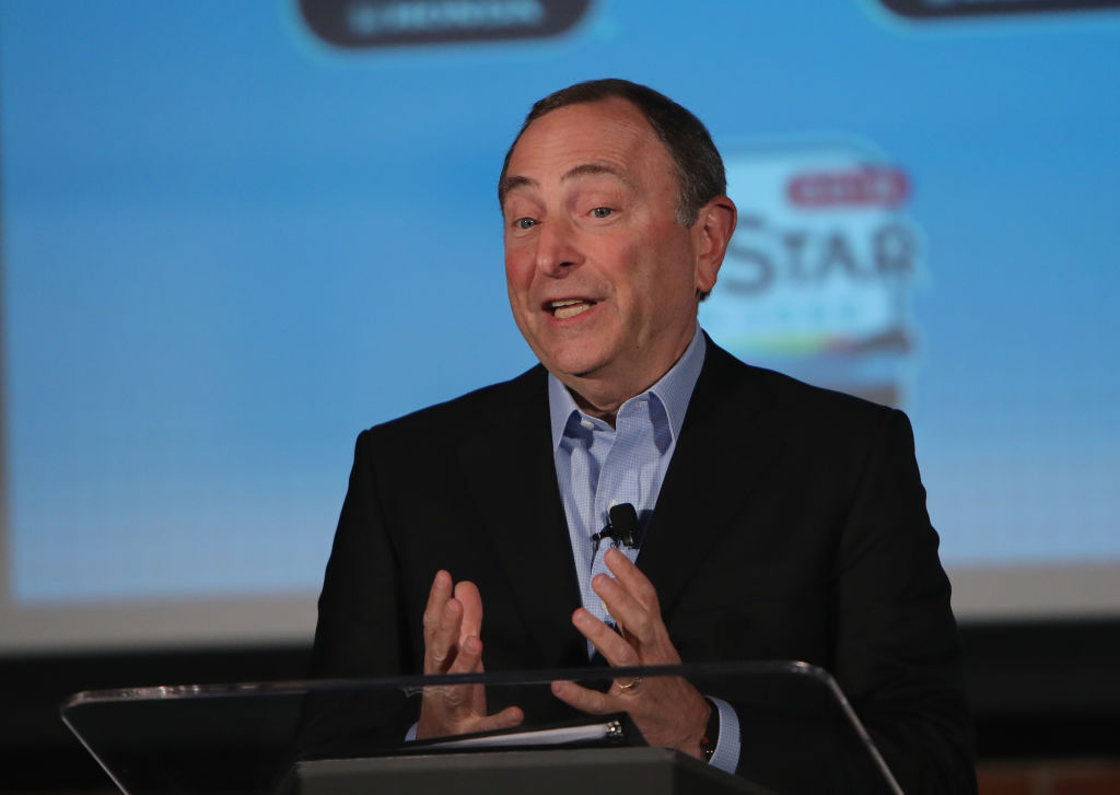 Commissioner Gary Bettman said Friday at his All-Star news conference in San Jose that the new system can track pucks at a rate of 2,000 times per second. (Getty Images)