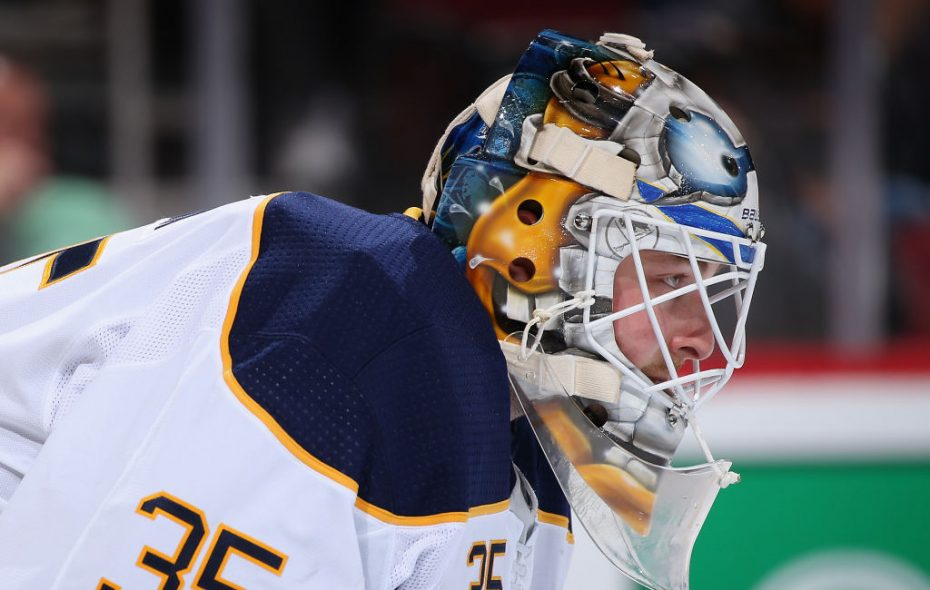 Linus Ullmark started Friday night for the Buffalo Sabres. (Getty Images)