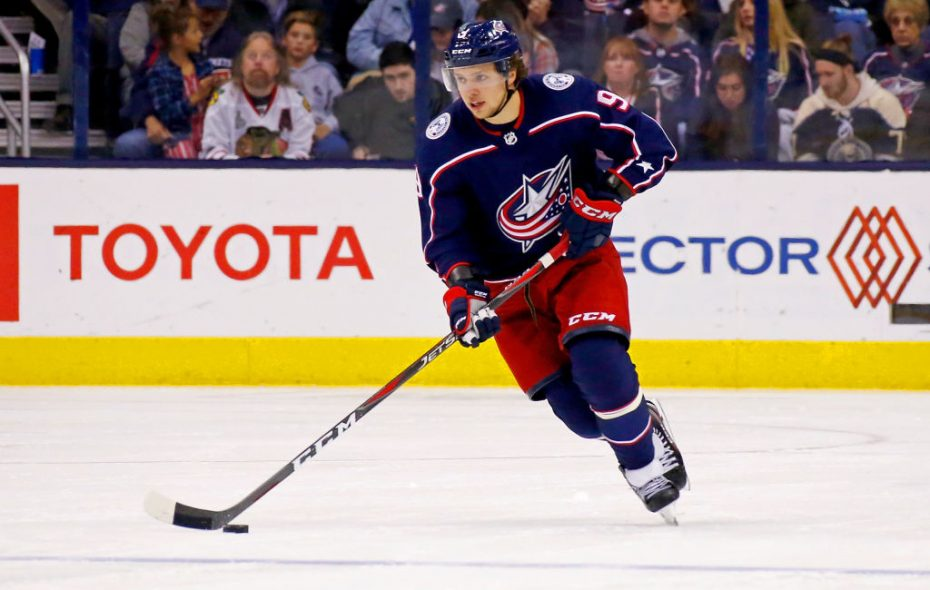 Columbus winger Artemi Panarin has 19 goals among 53 points in 46 games this season. (Getty Images)