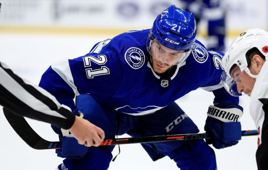 Tampa Bay center Brayden Point has 28 goals among 60 points in 44 games this season. (Getty Images)