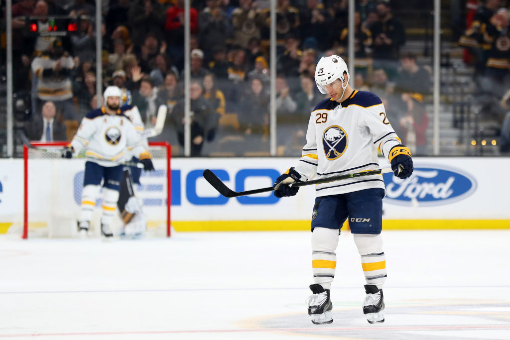 Sabres winger Jason Pominville entered Saturday with nine goals among 18 points this season. (Getty Images)