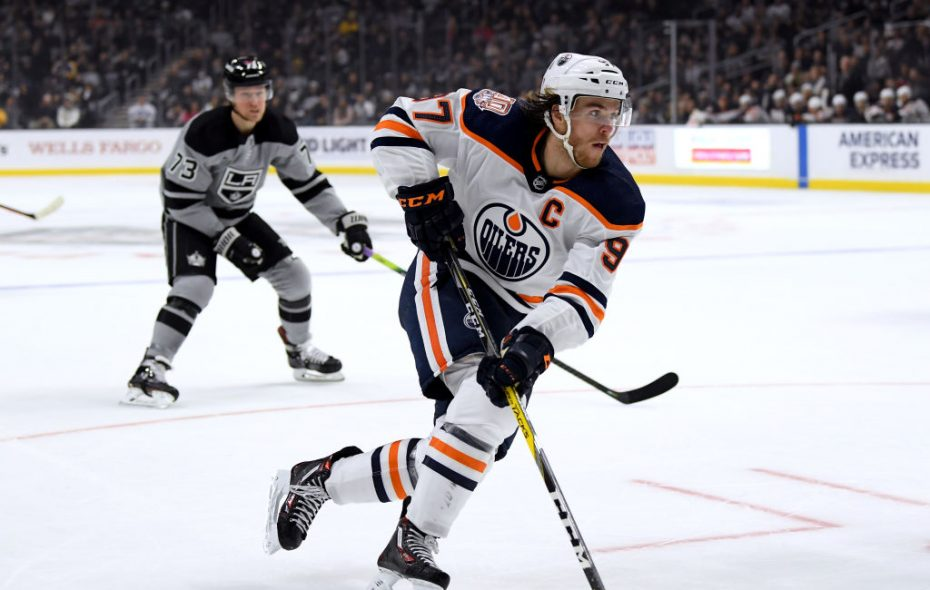 Edmonton Oilers center Connor McDavid has 27 goals among 67 points this season. (Getty Images)