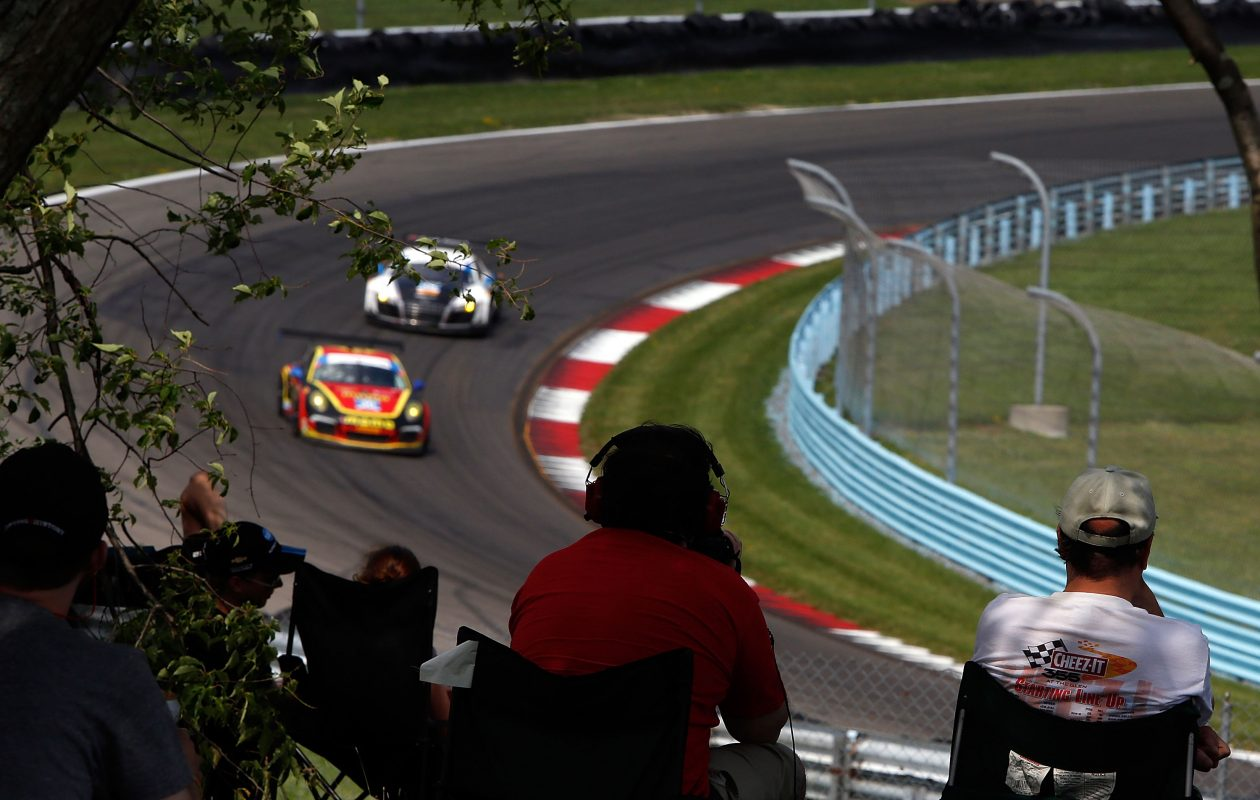 Fans watch the action during the Sahlen's Six Hours of the Glen at Watkins Glen International (Brian Cleary/Getty Images)
