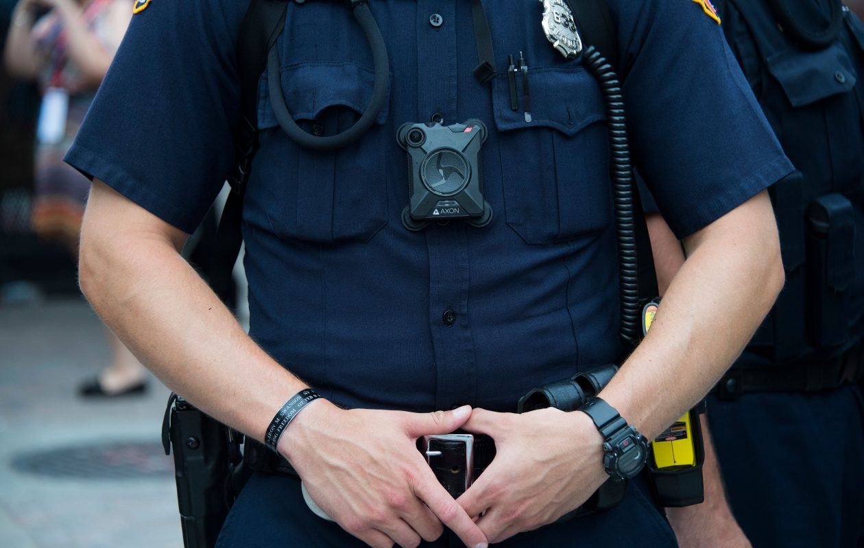 Despite their widespread adoption in cities like Buffalo, one large study of police body cameras found that they didn't have much impact on officers' behavior. (Getty Images)