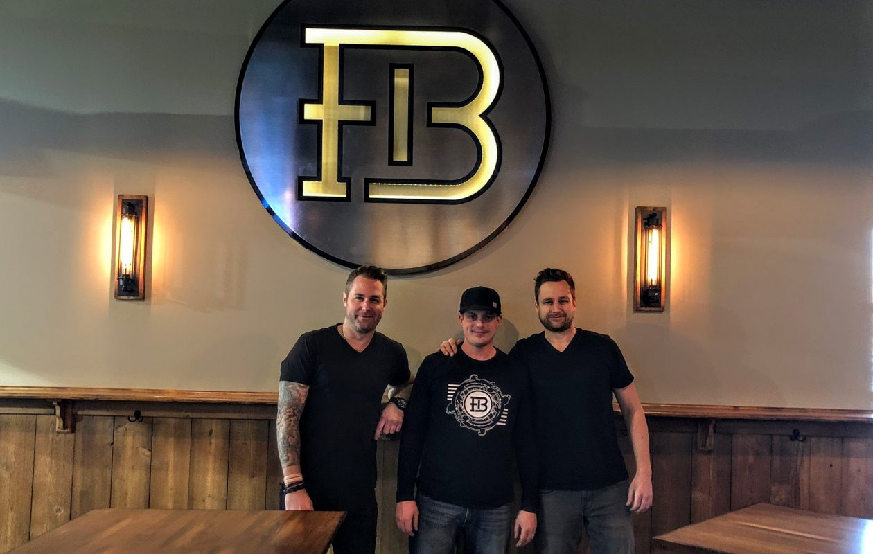 Froth Brewing's owners, from left, are Eli Hale, Jesse McLaughlin and Travis Hale. (Ben Tsujimoto/Buffalo News)