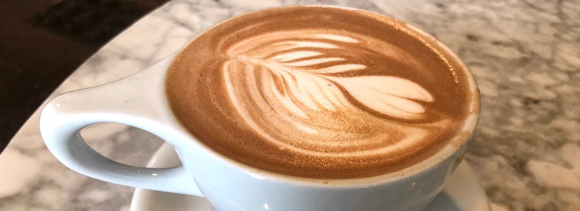 The hot chocolate at Public Espresso in the Hotel @ the Lafayette is made with melted Belgian dark chocolate. (Ben Tsujimoto/Buffalo News)
