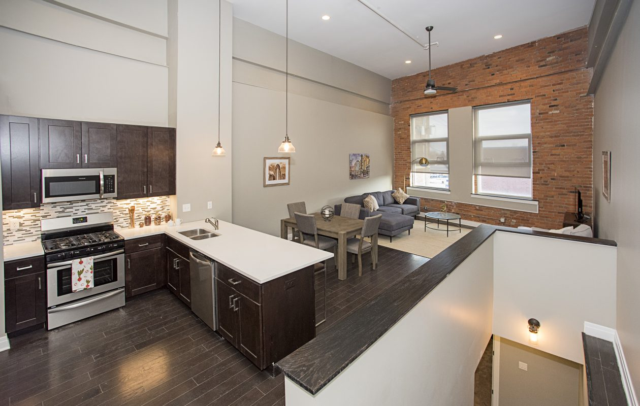 Most Nickel City Lofts offer two levels of living space. (Photos Jim Lesinski)