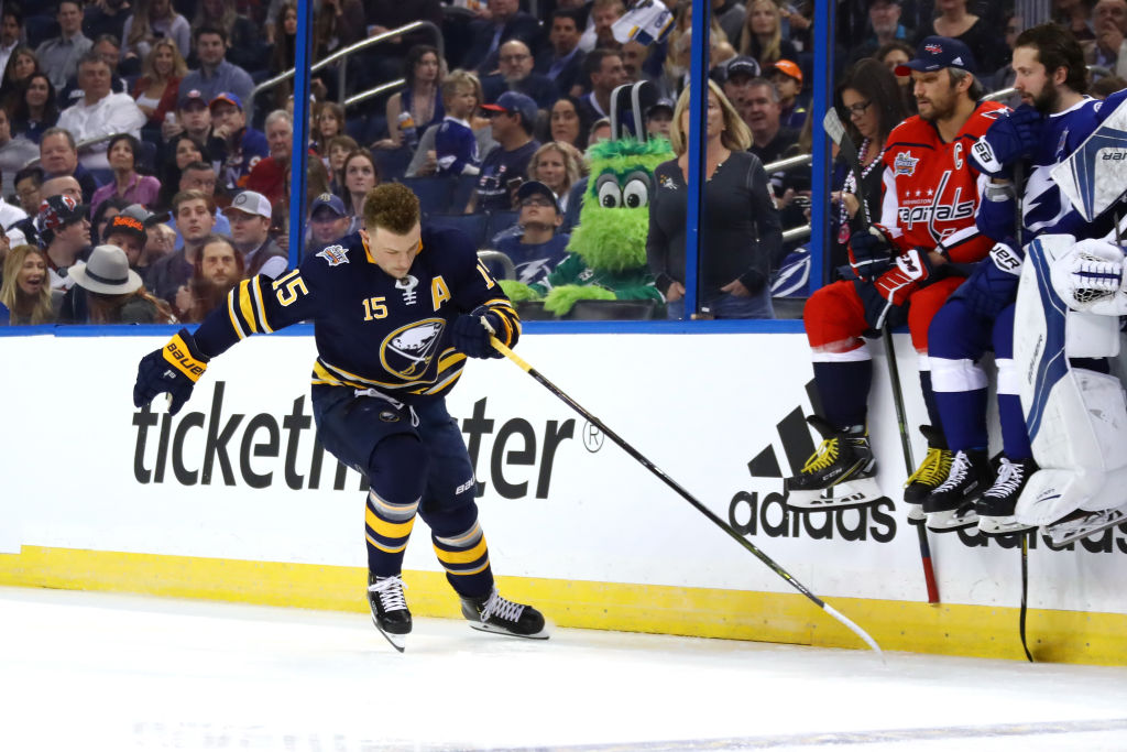 Jack Eichel competes in the Fastest Skater competition last year in Tampa. (Getty Images)