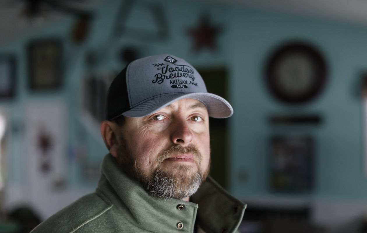 Jamie Billquist at his home in Sherman, Saturday, Jan. 12, 2019. His wife, Rosemary, was shot and killed by a neighbor who apparently mistook her for a deer while she was walking their dogs behind the house in November 2017. That neighbor, Thomas B. Jadlowski, pleaded guilty to criminally negligent homicide and hunting after sunset and will be sentenced in court on Monday. (Derek Gee/Buffalo News)