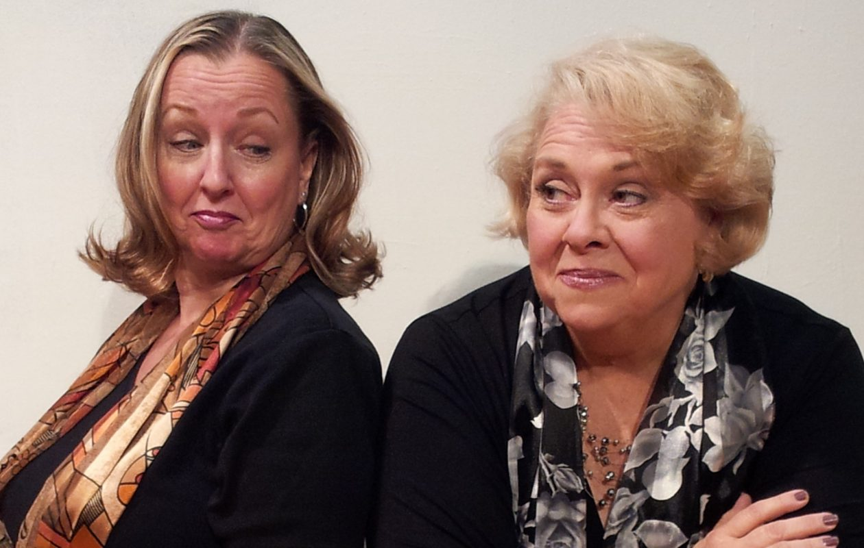 Pamela Rose Mangus, left, and Mary Kate O'Connell star in 'The Kathy and Mo Show: Parallel Lives/The Dark Side' presented by O'Connell & Company at Shea's Smith Theatre.