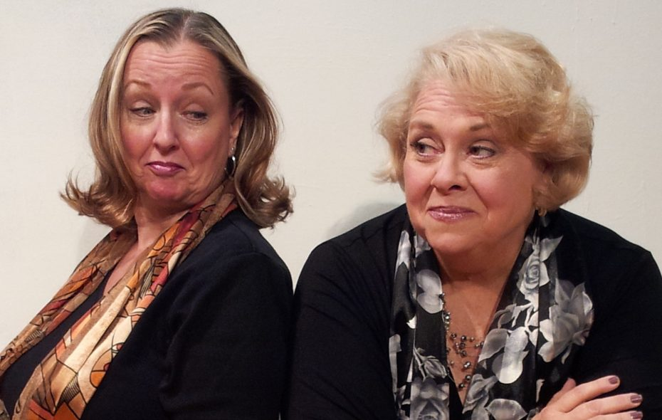 """Pamela Rose Mangus, left, and Mary Kate O'Connell star in """"The Kathy and Mo Show: Parallel Lives/The Dark Side"""" presented by O'Connell & Company at Shea's Smith Theatre."""