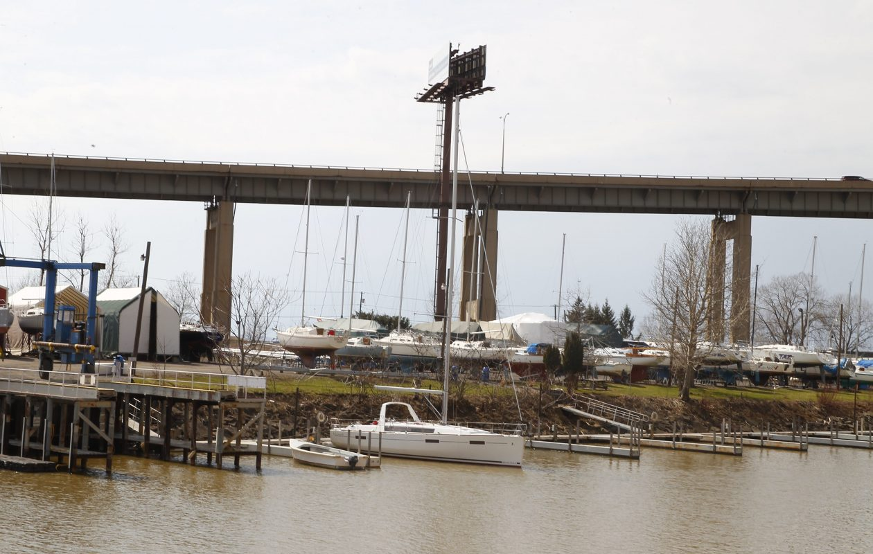 Boats on land and at dock at First Buffalo River Marina in Buffalo. (Buffalo News file photo)