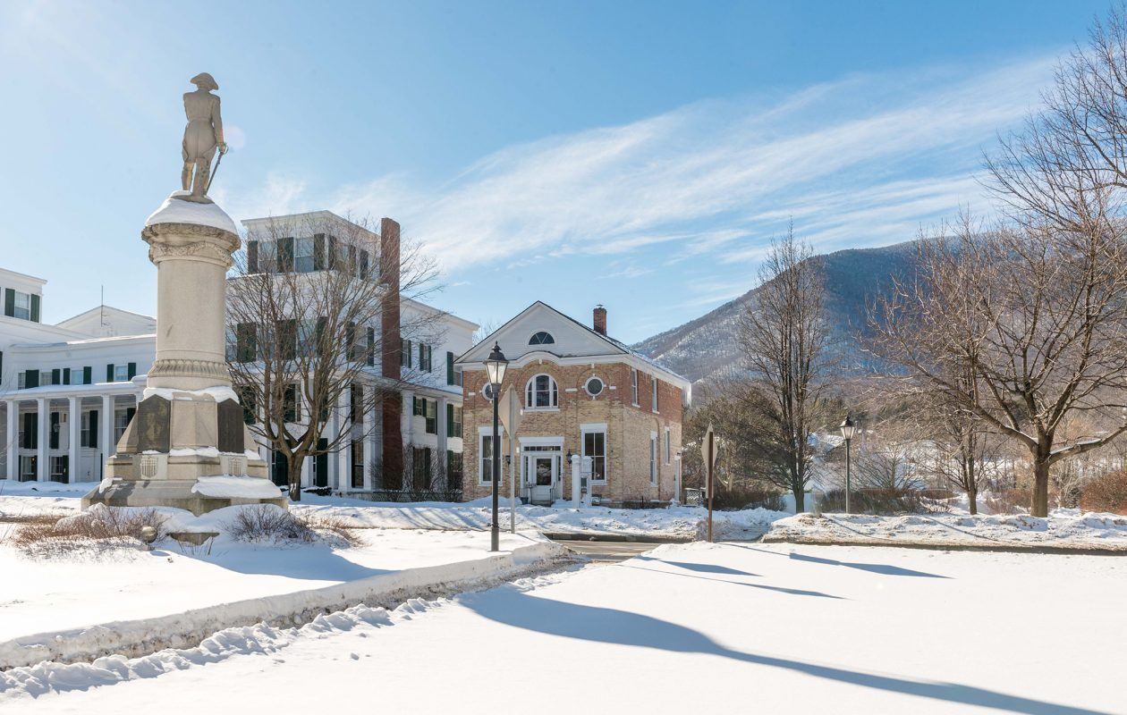 Manchester, Vermont, offers quintessential New England landscapes, ample shopping. (Courtesy of Tom Peters)
