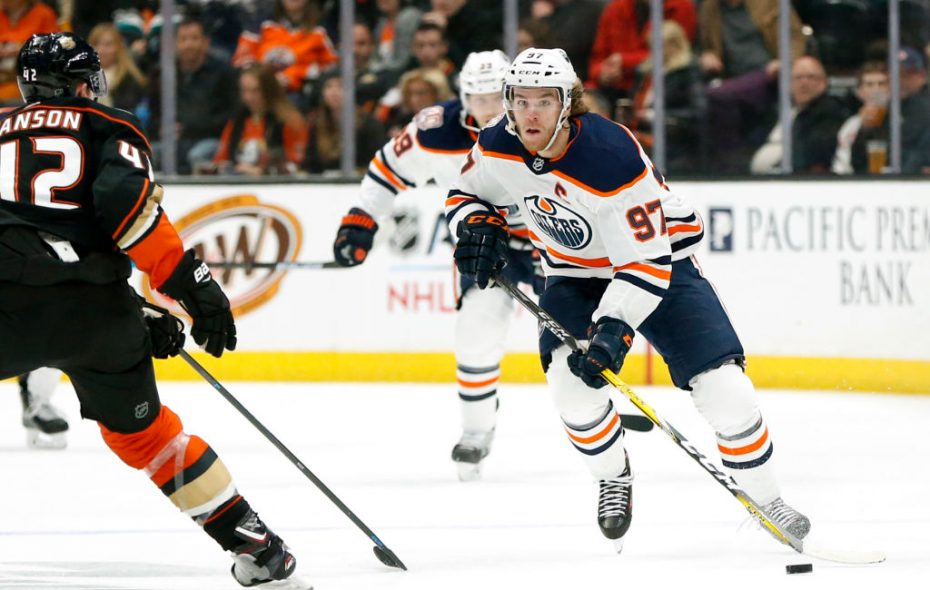Connor McDavid sat out Edmonton's Skills Challenge on Sunday due to the flu. (Getty Images)