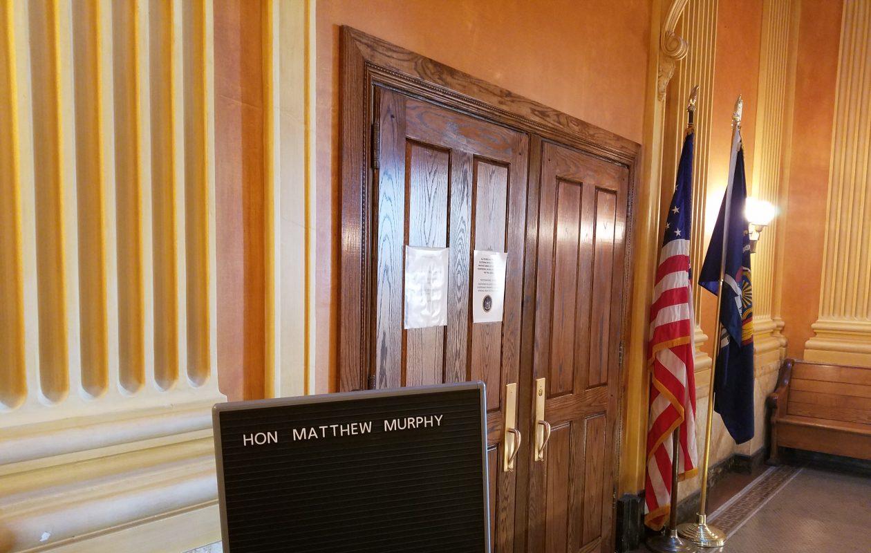The courtroom of Niagara County Judge Matthew J. Murphy III. (Thomas J. Prohaska/Buffalo News)