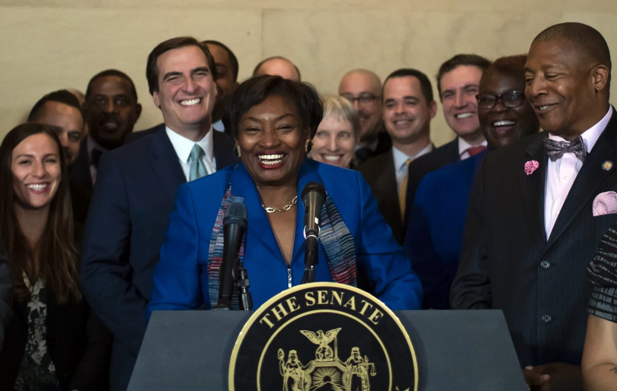 State Sen. Andrea Stewart-Cousins was sworn in as majority leader of the Senate this week. Diversity in the Legislature's leadership is welcome and important, but downstate dominance must not work to this region's disadvantage. (New York Times)