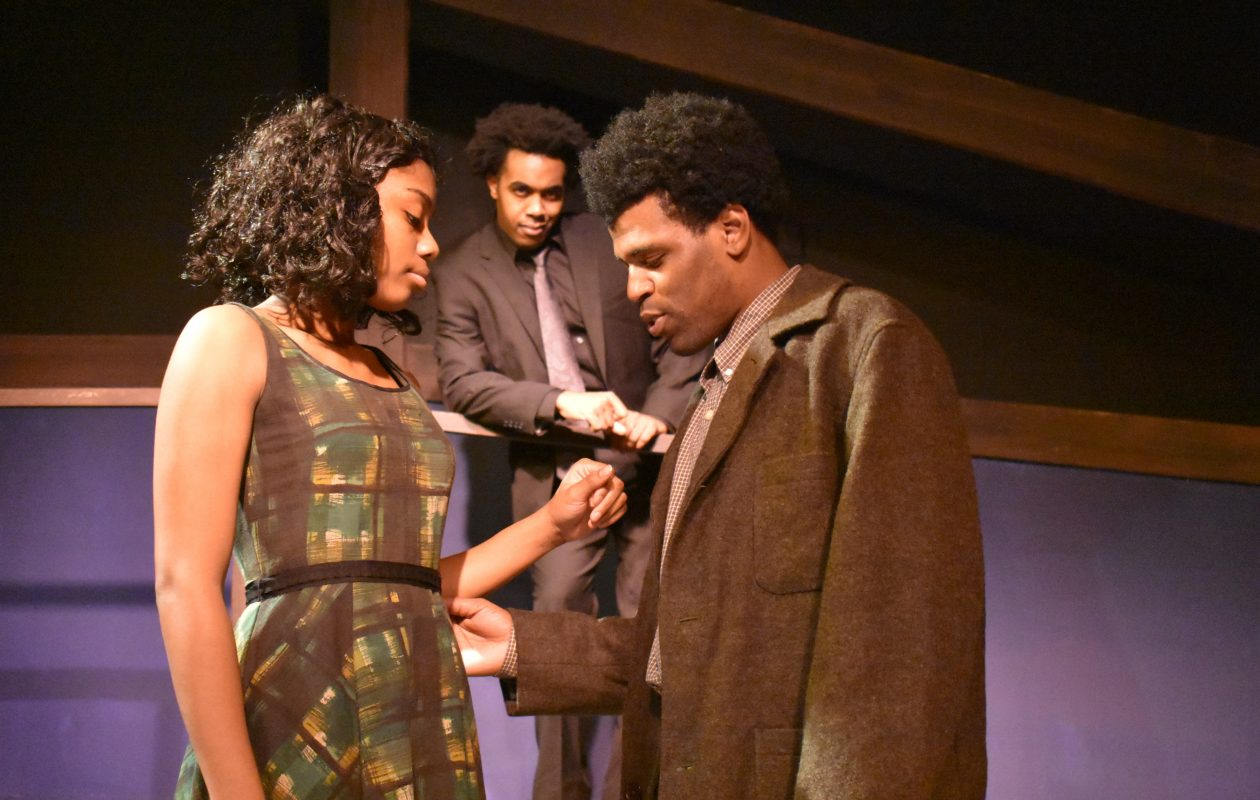 Janae Leonard and Alphonso Walker Jr. (front) and Augustus Donaldson Jr. (back) star in Paul Robeson's production of 'Native Son.'