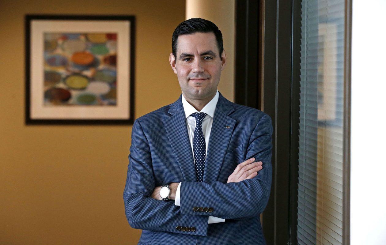Adam Desmond, regional market executive for Tompkins Bank of Castile.  (Robert Kirkham/Buffalo News)