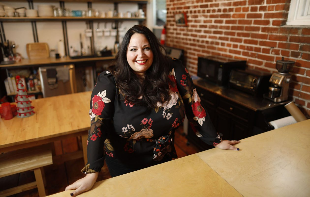 Katie Krawczyk, partner and president of 19 Ideas. (Derek Gee/Buffalo News)