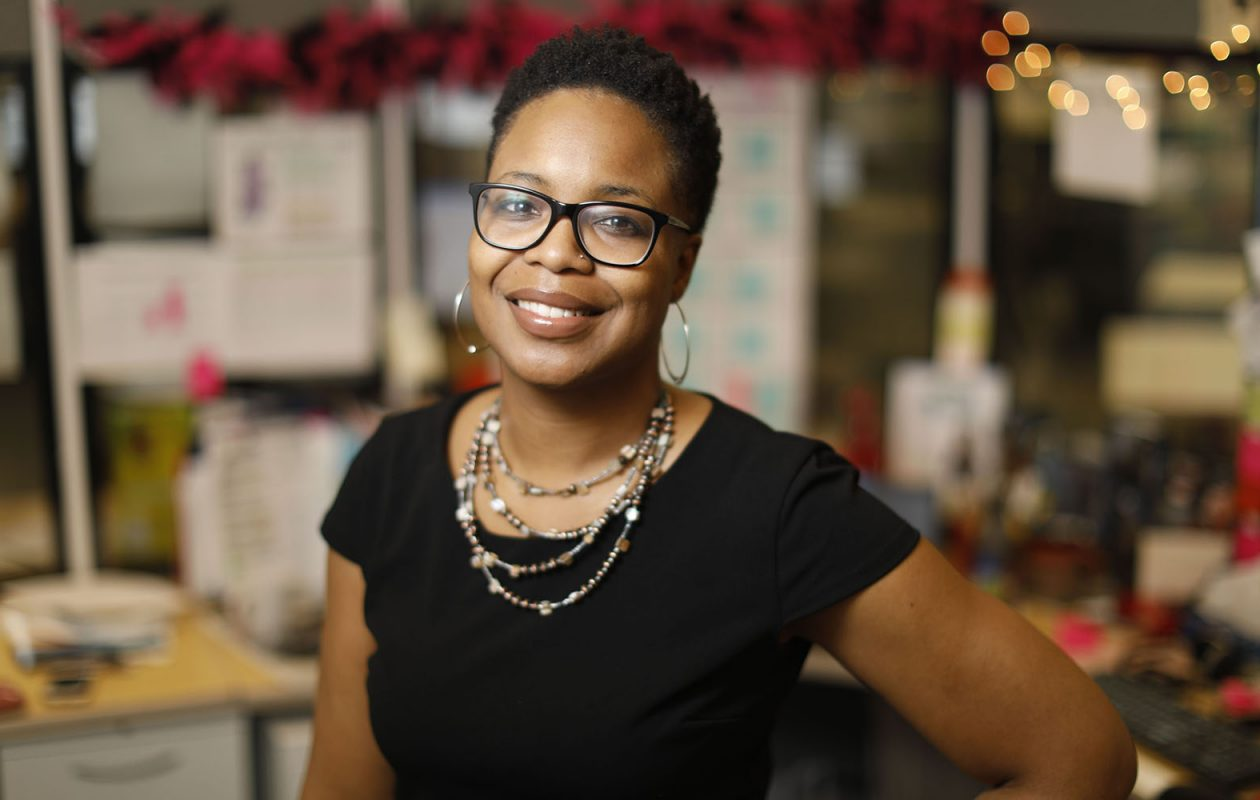 Maisha Drayton, director of community and stakeholder engagement to promote health equity at Cicatelli Associates. (Derek Gee/Buffalo News)