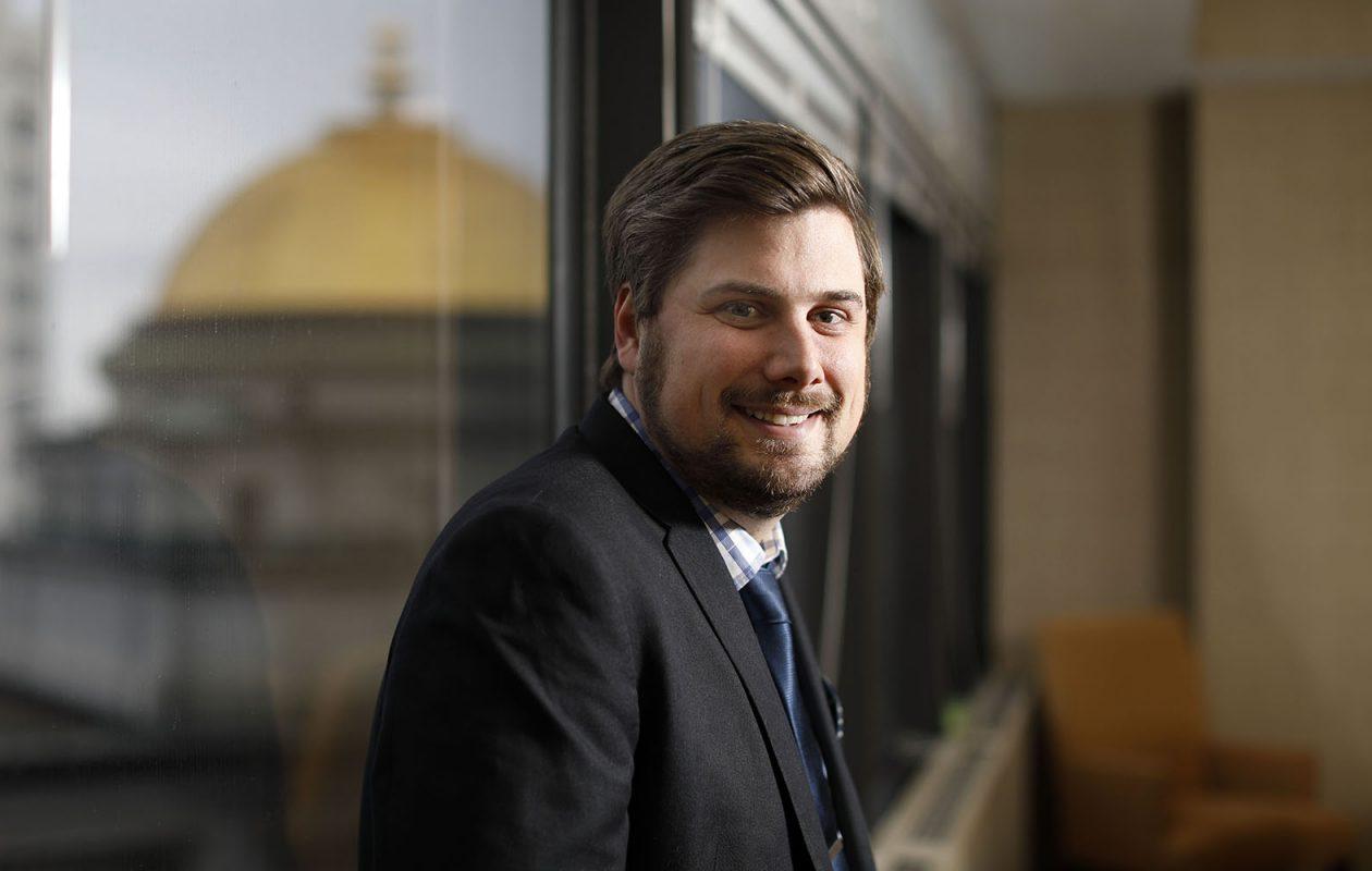 Matthew K. Pelkey, partner at Colligan Law. (Derek Gee/Buffalo News)