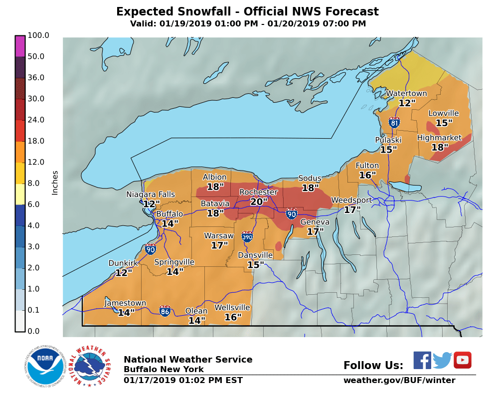 Snow Storm Weather Map.Weekend Snowstorm Totals Forecast To Exceed A Foot In Most Areas Of