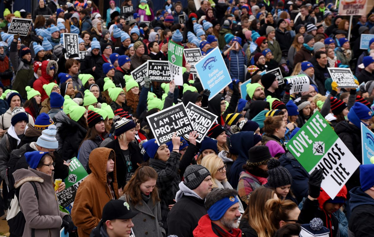 Anti-abortion activists from around the U.S. gather in Washington, D.C., Friday, Jan. 18, 2019 for the annual 'March for Life.'  (Olivier Douliery/Abaca Press/TNS)