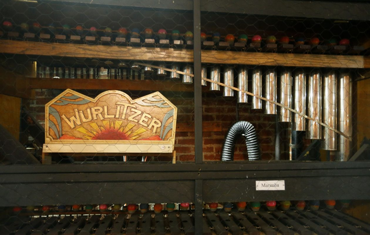 Some of the pipes that make the sounds for the Mighty Wurlitzer in the Riviera Theatre in North Tonawanda. (Mark Mulville/The Buffalo News)