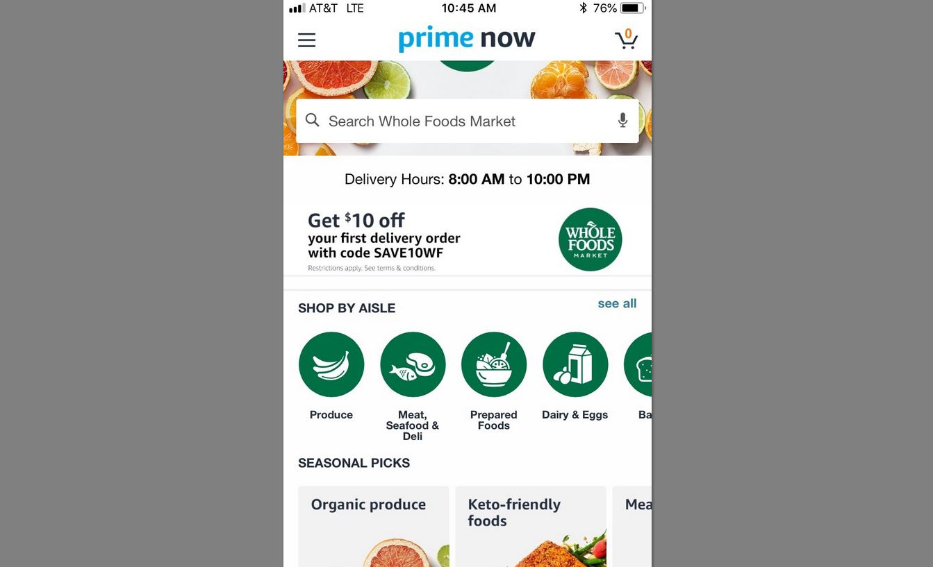 Buffalo Amazon Prime customers get free Whole Foods delivery – The