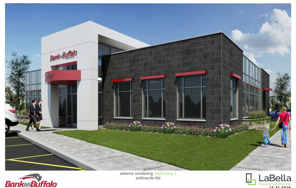 A rendering of the branch Bank on Buffalo will build in Niagara Falls. (provided image)