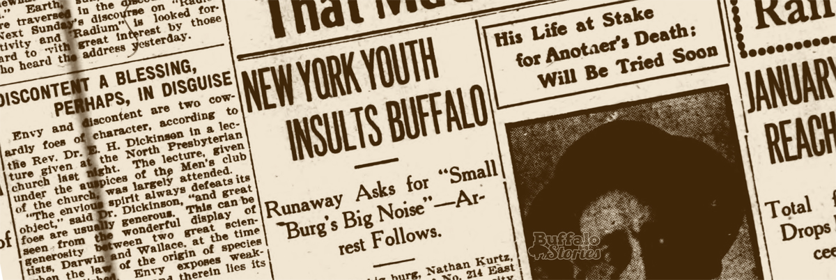 1914 newspaper headline.