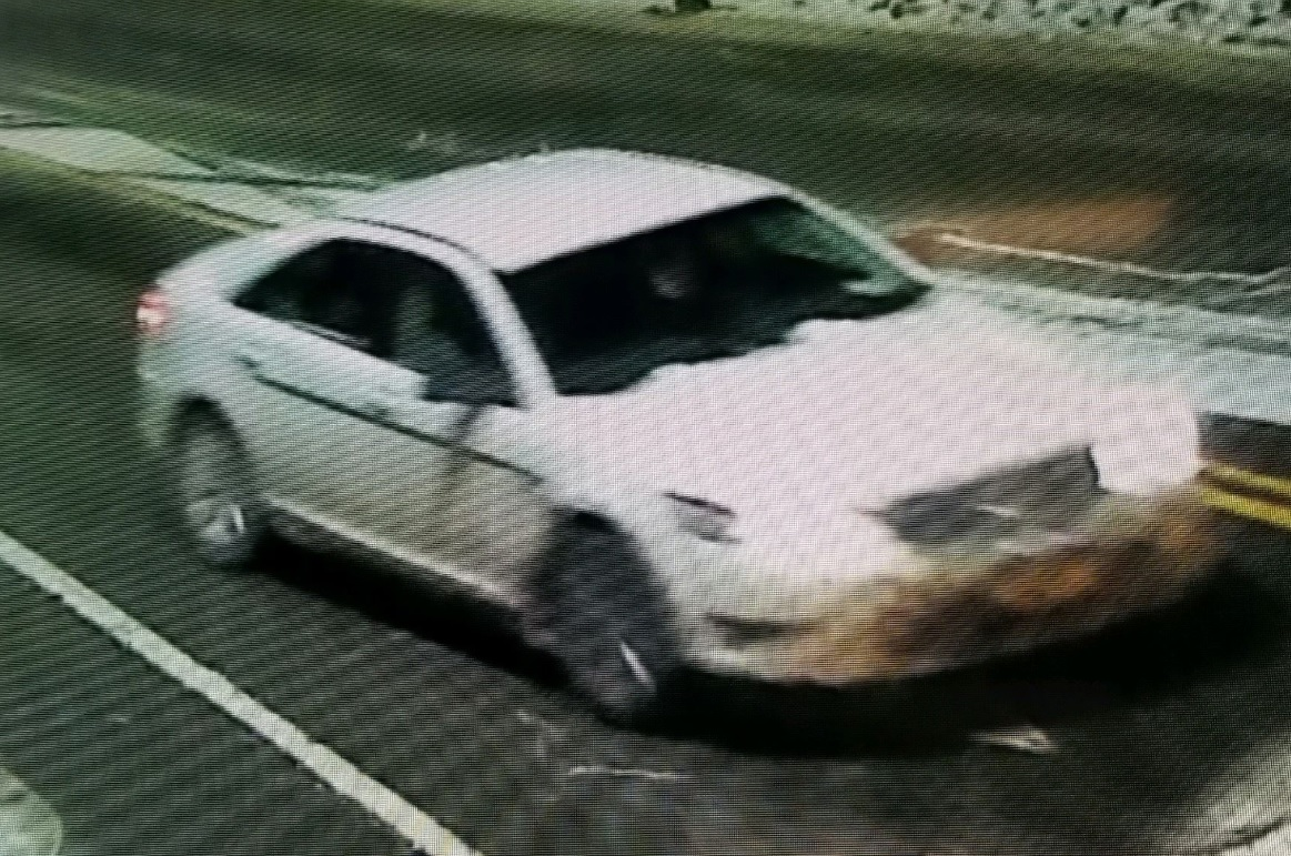 Police are looking for this car in connection with a drive-by shooting.(Jamestown Police Department)