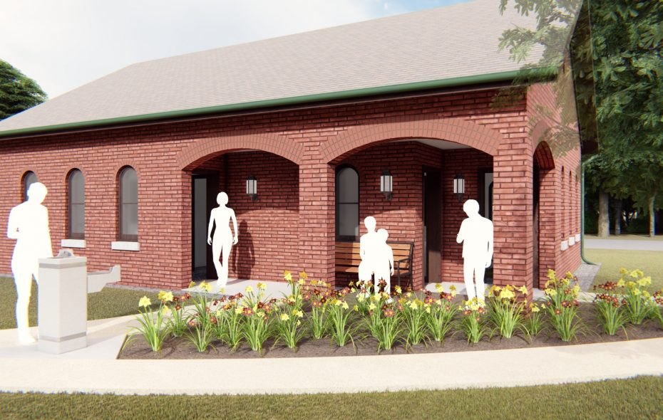 An architect's rendering of the planned new comfort station in DeVeaux Woods State Park. (Contributed photo)