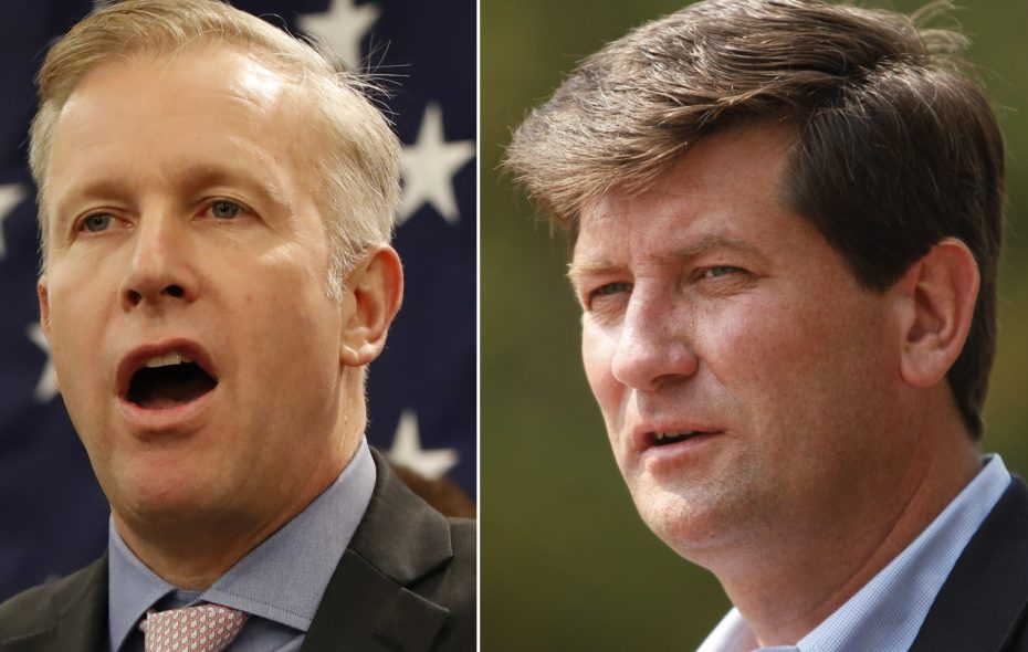 Republicans see state Sen. Chris Jacobs as the strongest challenger to Democratic incumbent  Mark Poloncarz who will seek a third term in November. (News file photos)