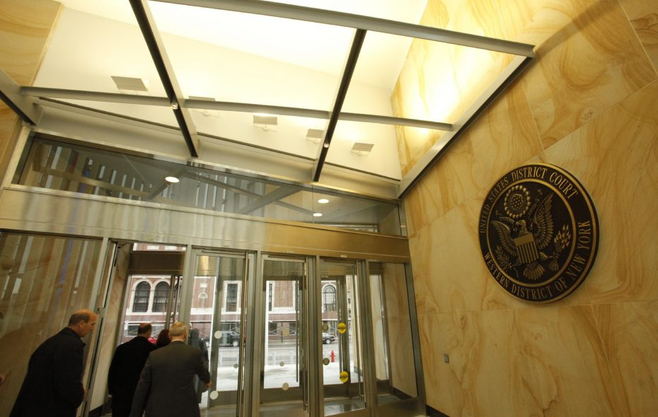 Things may look normal in Buffalo's federal courthouse, but the partial government shutdown means court workers will stop getting paid after Jan. 31. (Derek Gee/News file photo)