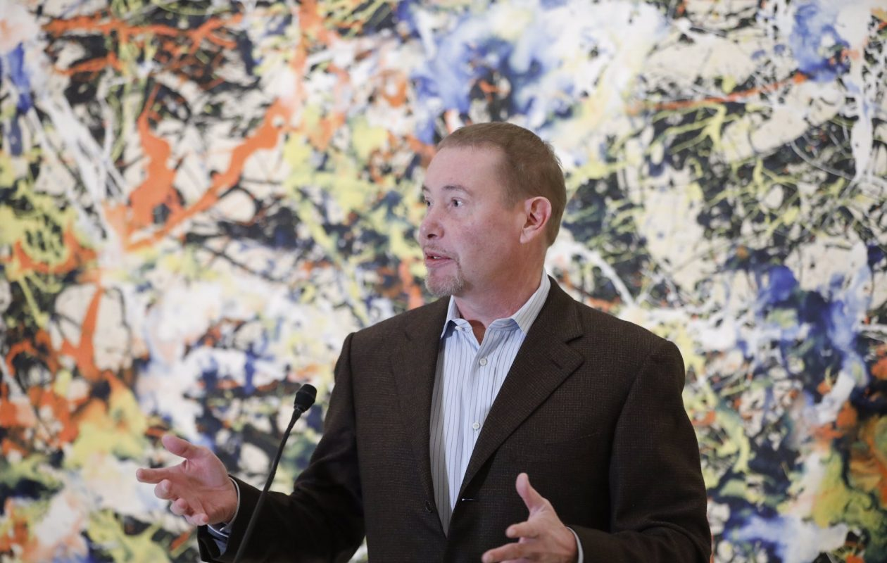 """I am thrilled to be the anchor of this project, and we are going to see it through to the finish line,' billionaire philanthropist Jeffrey Gundlach said during an update on the gallery expansion project at the Albright Knox Art Gallery Friday, Jan. 11, 2019. (Derek Gee/Buffalo News)"